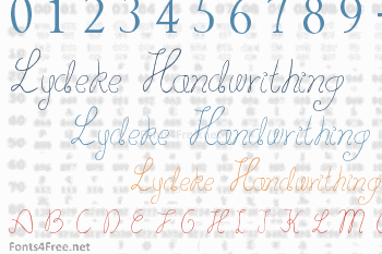 Lydeke Handwrithing Font