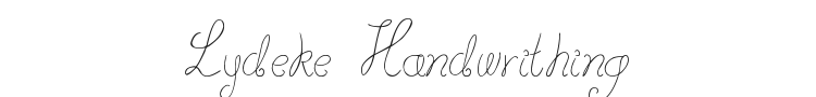 Lydeke Handwrithing Font Preview