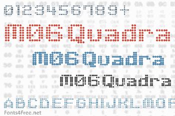 M06 Quadra Font