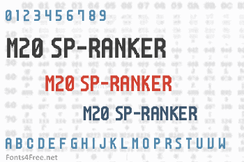 M20 SP-Ranker Font