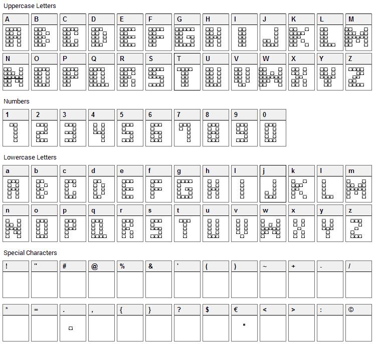 M31 Monkey Kong Font Character Map