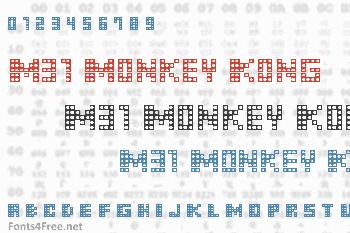M31 Monkey Kong Font