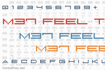 M37 Feel The Bit Font