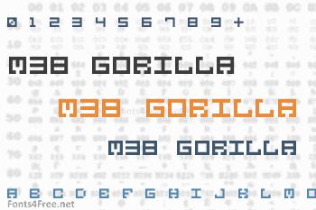 M38 Gorilla Font