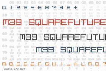 M39 Squarefuture Font