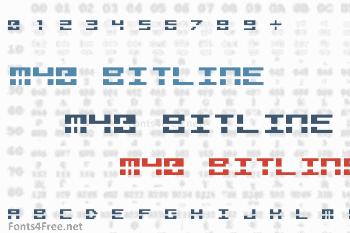 M40 Bitline Font