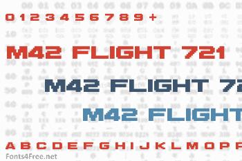 M42 Flight 721 Font