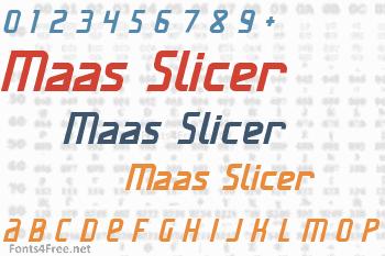 Maas Slicer Font