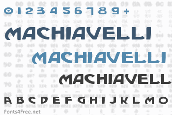 Machiavelli Font
