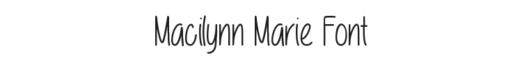 Macilynn Marie Font Preview