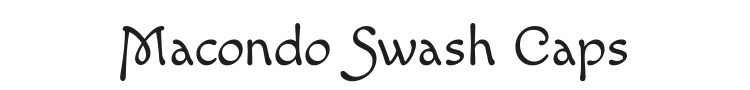 Macondo Swash Caps Font