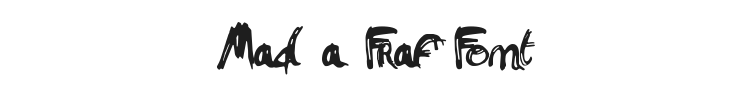 Mad a Fraf Font Preview