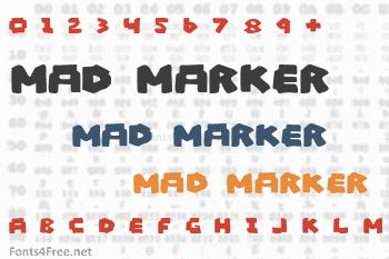 Mad Marker Font