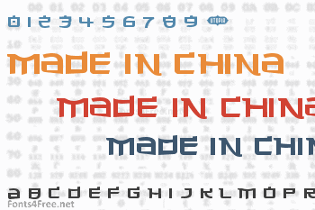 Made in China Font