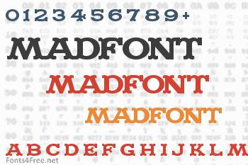 Madfont Regular Font