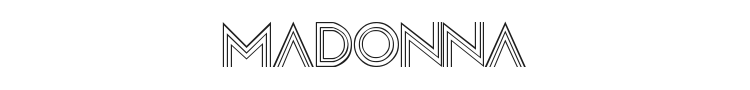Madonna Font Preview