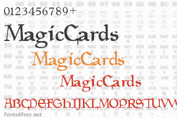 Magic Cards Font