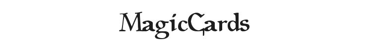 Magic Cards Font