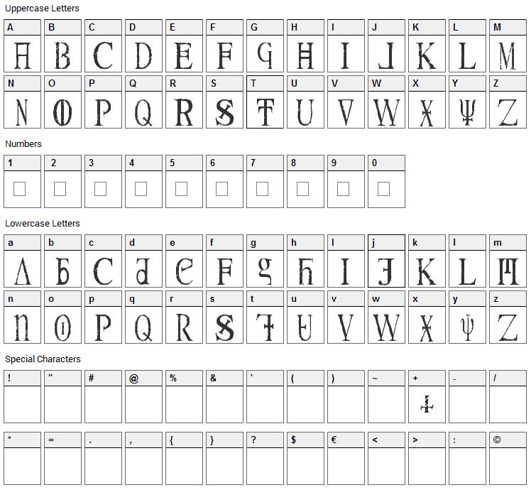 Magna Veritas Font Character Map