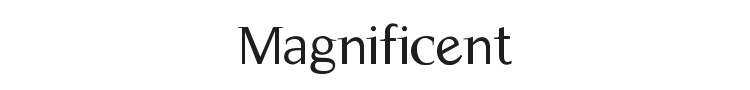 Magnificent Font Preview
