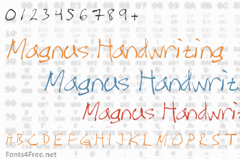 Magnus Handwriting Font