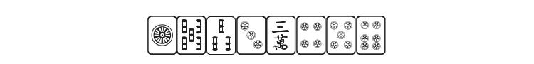Mahjong Font Preview