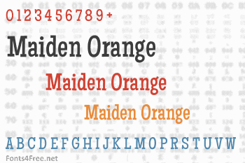 Maiden Orange Font
