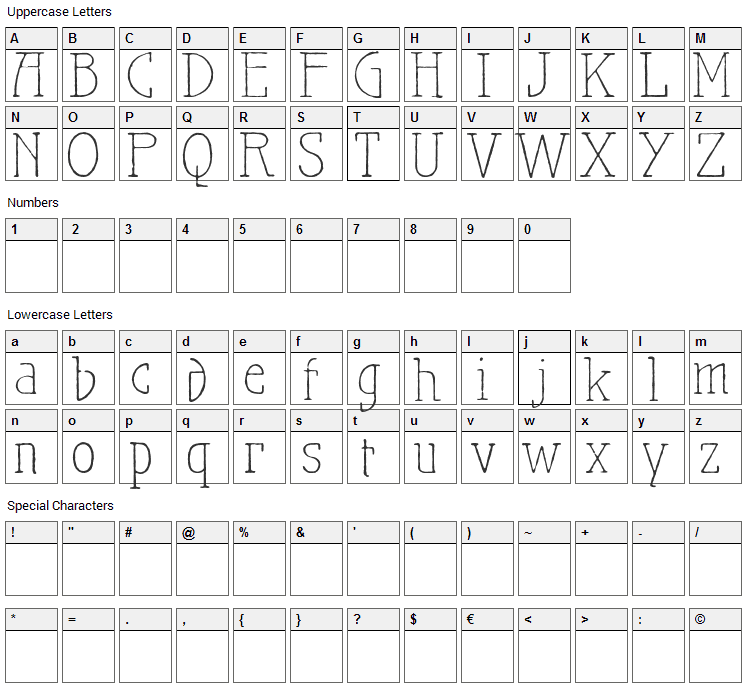 Maiers Nr.21 Pro Font Character Map