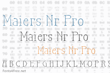 Maiers Nr.21 Pro Font