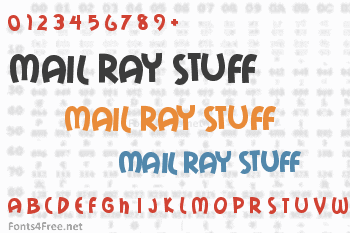 Mail Ray Stuff Font