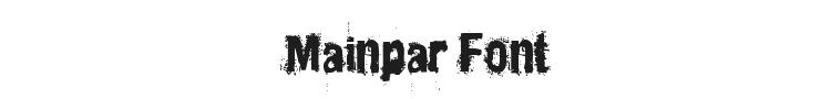 Mainpar Font Preview