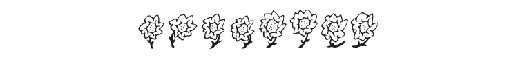 Majas Flowers Font