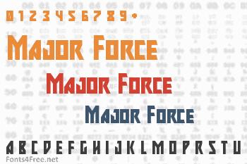 Major Force Font