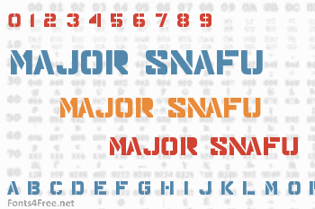 Major Snafu Font