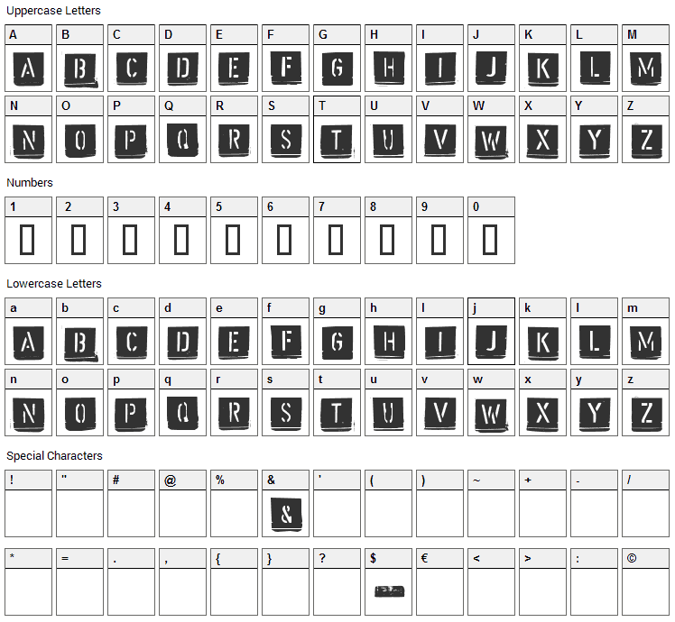 Malermeister Font Character Map