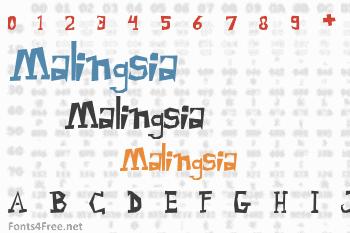 Malingsia Font