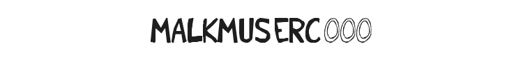 Malkmus Erc 001 Font Preview