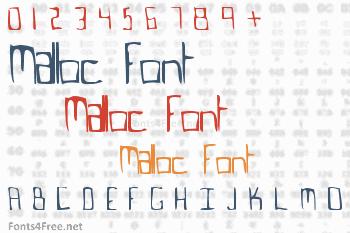 Malloc Font