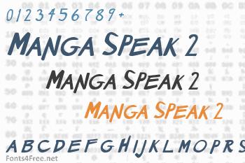 Manga Speak 2 Font