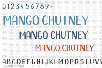 Mango Chutney Font