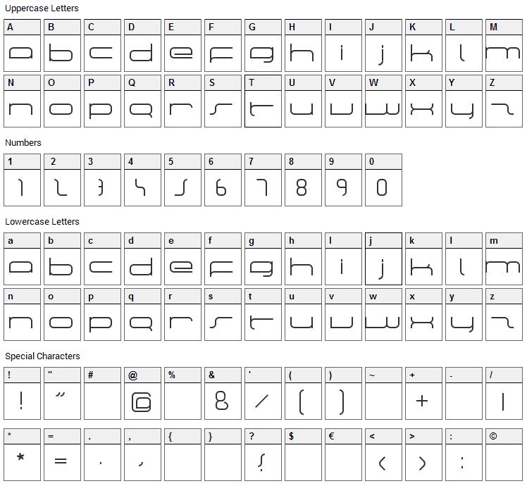 Manu Font Character Map