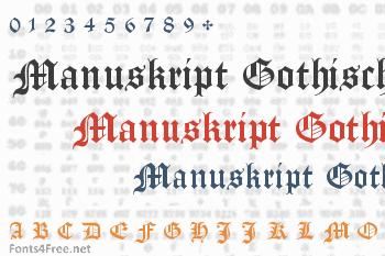 Manuskript Gothisch Font