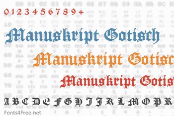 Manuskript Gotisch Font