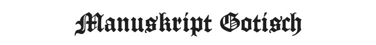 Manuskript Gotisch Font Preview