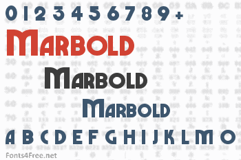 Marbold Font