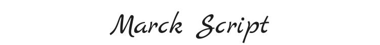 Marck Script Font
