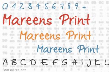 Mareens Print Font