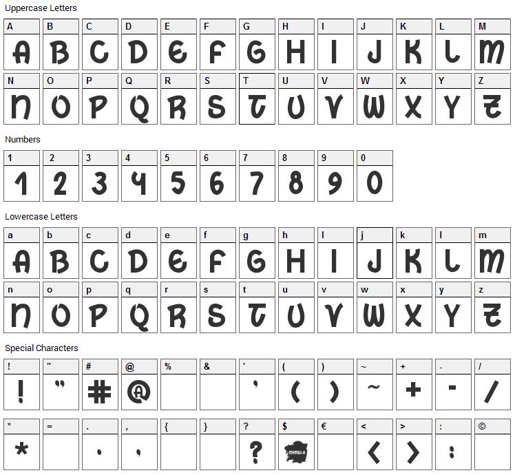 Marela Font Character Map