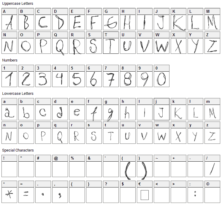 Maribel Font Character Map