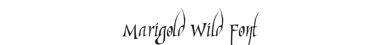 Marigold Wild Font Preview